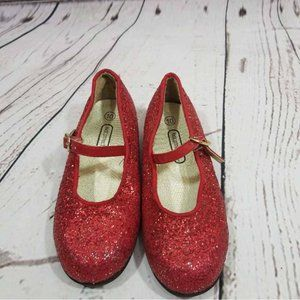 CHEROKEE RED GLITTER DOROTHY SHOES~WIZARD OF OZ~GIRLS 5~6~7~10~NWOT